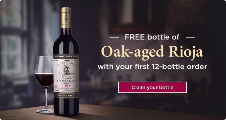 FREE bottle of Oak-aged Rioja with your first 12-bottle order