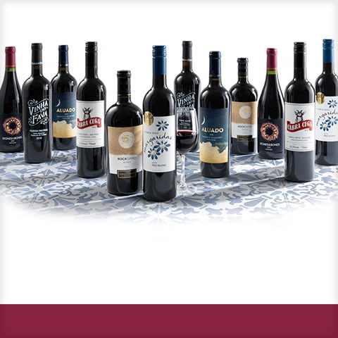 Collection of red wines from Portugal