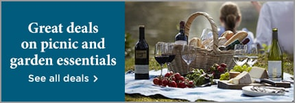 Great deals on picnic and garden essentials - see all deals >