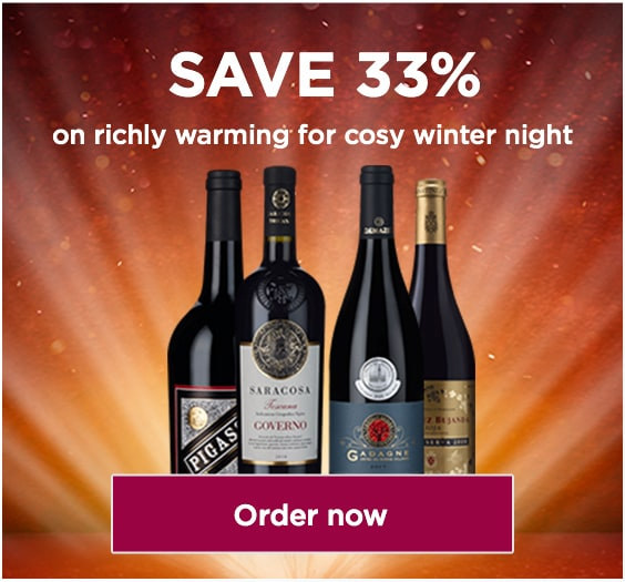 SAVE 33%, on richly warming reds for cosy winter nights