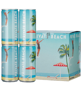 Private Beach Sparkling Rosé (4 cans x 200ml each) NV