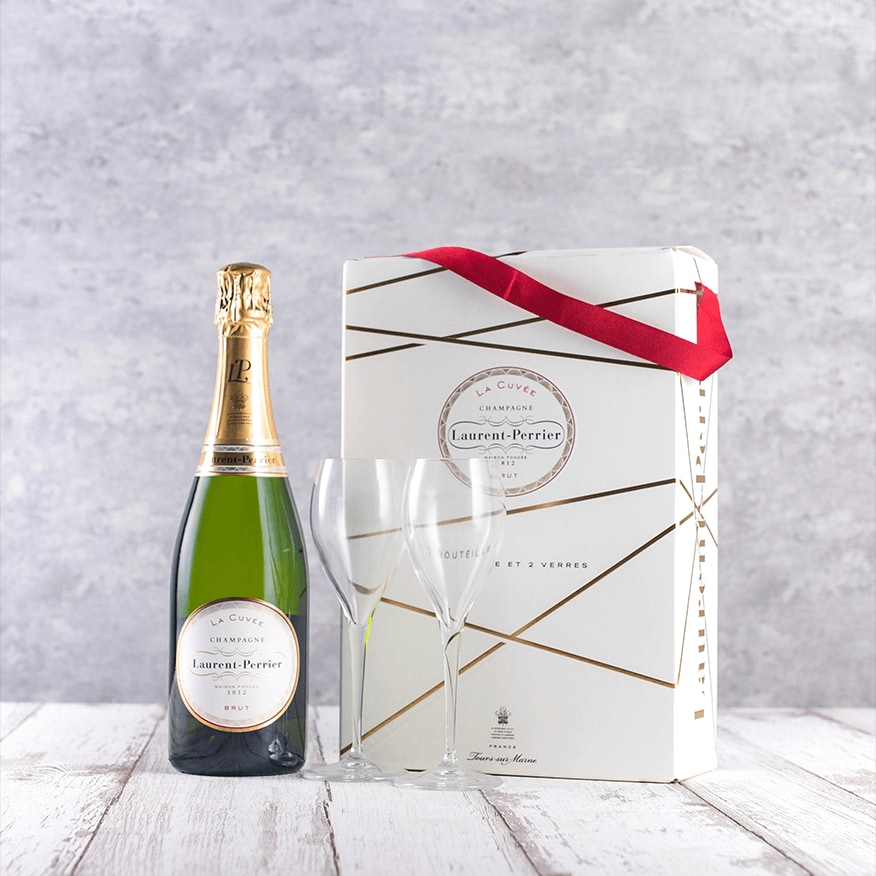 Laurent-Perrier Champagne and Flutes Gift Set NV