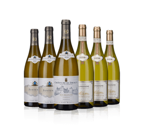Dinner Table White Burgundy Six